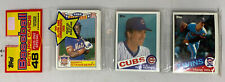 1985 Topps Unopened Rack Pack Mark McGwire Olympic RC Rookie Showing on Back Top