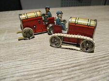 2 kleine GAMA Trecker mit Fahrer U.S.Zone Germany,Blechspielzeug