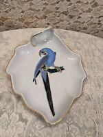 Vintage Altenburg & Saxony Hand Painted Bird Plate Signed