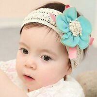 Infant Baby Lace Flower Hair Band Headband Elastic Hair Headwear
