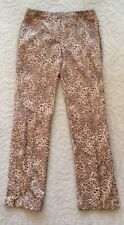 VERSACE Auth Vitg Leopard Print Raw Silk Zippers Leg Pants Womans EU 40 Italy