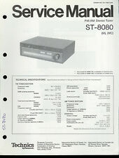 Original Factory Technics/Panasonic ST-8080 FM/AM Stereo Tuner Service Manual