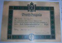 GERMAN - Shooting Badge, 1st Class Award Certificate. Inf.Regt. 95. 1911 (Copy).