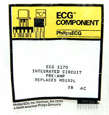 PHILIPS ECG 1170 INTEGRATED CIRCUIT IC PRE-AMP REPLACES M5152L 5B AC COMPONENT