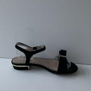 Miss KG Womens Ankle Strap Black Suede Sandals - Flats Size UK3/EU36