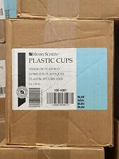 2 Case2000 Henry Schein 100 4361 Plastic Drinking Cups 5oz 140ml Blue