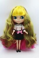 "New 12"" Neo Blythe Doll from factory Colorful Long mixed Yellow curly hair #3"