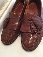 Cole Haan Resort Brown Woven Leather Loafers, Size 10 D. Nice!