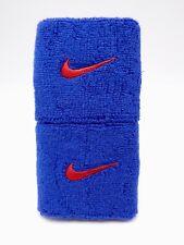 "Nike Swoosh Wristbands Varsity Blue/Sport Red 3"" Men's Women's"
