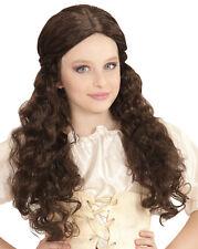 Princesse Maura moyen-âge Perruque marron NEUF - Carnaval perruque cheveux