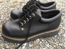 Route 66 Black Faux Leather Lace Up Oxfords Work Shoes Size 9.5 Men's
