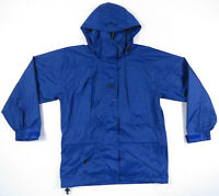 NWOT Helly Hansen Tech Packable Rain Waterproof Blue Hooded Full Zip Jacket XS