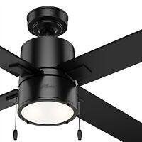 Hunter Fan 52 inch Contemporary Matte Black Indoor Ceiling Fan with Ligh Kit