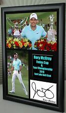 "Rory Mcilroy Fedex Cup Winner 2016 Framed Canvas Tribute Signed ""Great Gift"""