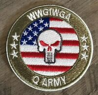 Q ANON WWG1WGA Embroidered Patch Iron Sew On Military Army Qanon Trump Punisher