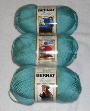 Bernat Satin Yarn Lot Of 3 Skeins (Sage #04232)