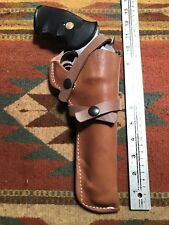 """S&W 586 686 66 19 Ruger GP100 Taurus Tracker 357 6"""" Western Leather Holster Used"""