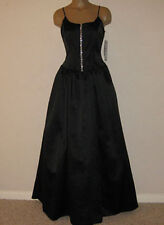NWT New Formal Black Dress Ball Gown Corset Small 2/4