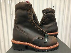 "Chippewa Arador Work Boots 9"" Waterproof Leather Steel Toe 9E 25405 USA Logger"
