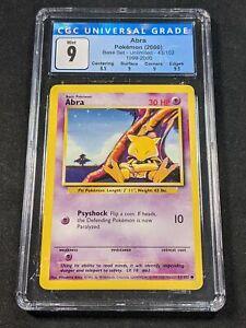 Pokemon TCG - CGC 9 - Abra - 4th Print Base Set 43/102
