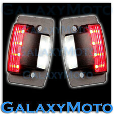 94-02 Dodge RAM Truck White LED License Plate+Rear Brake Red LED Running Light