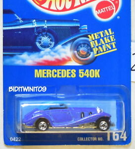 HOT WHEELS 1991 BLUE CARD #164 MERCEDES 540K BASIC WHEELS 22