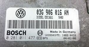 TUNED !!! VW GOLF V 2.0 TDI 140 BKD 03G906016AN IMMO OFF PLUG&PLAY BOSCH ECU