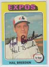 Autographed 1975 Topps Hal Breeden - Expos