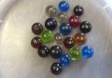 Vintage Sample Card Mixed Jewel Tones Orbit Rondell Glass Bead Lot