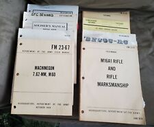 8 Vintage Military Training Manuals Army Soldiers Rifles Machine Guns Pistols