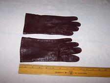 Vintage Women's Laimbock Silk Lined Fine Leather Gloves Size 7 1/4 - Estate Find