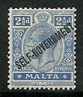 Album Treasures Malta Scott # 78   2 1/2p George V Overprint Mint LH