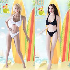 "1:6th White swimsuit Female underwear Bikini For 12"" Phicen Women Body Doll"
