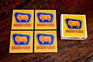 Golden Fleece Petrol Oil Man Cave Bar Ceramic Drink Coasters Set Of 4