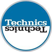 Technics 60662 PAIR Slipmat Moon 2 Blue/White High Quality Original / Brand New