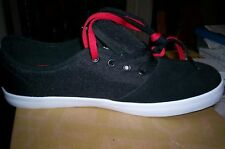 NIB! Habitat Men's EXPO Suede SKATEBOARDING SNEAKERS -BLACK-7.5M