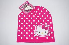 NWT HELLO KITTY knit hat Girl ONE SIZE FITS MOST (2T-10?) hot pink