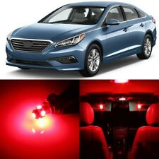 11 x RED Interior LED Lights Package For 2011 - 2017 Hyundai Sonata +TOOL