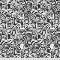 Free Spirit Fabric-Brandon Mably for the Kaffe Fassett PWBM070 Onion rings Black