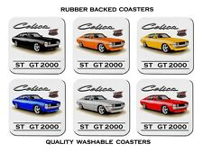 TOYOTA  CELICA  ST 2000  GT 2000  FASTBACK      SET OF 6  RUBBER DRINK  COASTERS