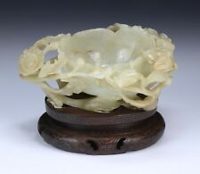A Fine Chinese White Jade Brush Washer
