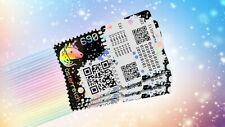 Crypto stamp 4er SET [schwarz / black, grün / green, blau / blue, gelb / yellow]