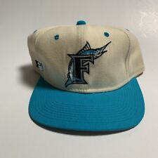 Vintage Sports Specialties Fitted 7 1/4 Florida Marlins White Dome HaT MLB