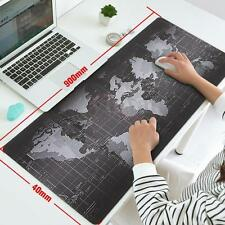 400×900×2MM World Map Anti-Slip Computer PC Laptop Gaming Mouse Pad Mat Large