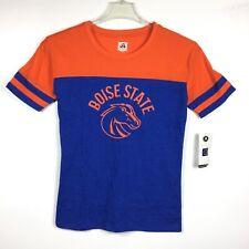 Boise State University Broncos NCAA Womens Blue Orange Short Sleeve T-Shirt Sz M