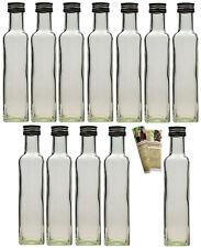 20 x 250 ml leere Glasflaschen Eckig Maraska Likörflaschen Flasche 0,25 Liter
