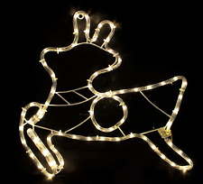 REINDEER CHRISTMAS DISPLAY ROPE LIGHTS STATIC INDOOR OR OUTDOOR WINDOW SIGN