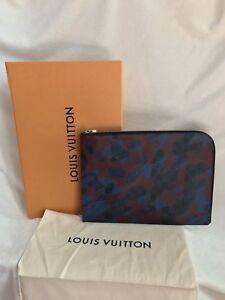 LOUIS VUITTON Damier Cobalt Bordeaux JULES JOUR GM Camouflage Document Clutch