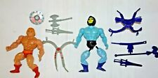 1980s Masters of the Universe He-Man & Skeletor w/ Weapons & Accessories