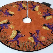 New Vtg Christopher Radko Halloween Fairy Jol Parade Needlepoint Mini Tree Skirt